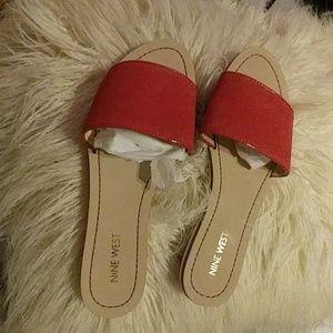 Nine West flat sandals size 8M